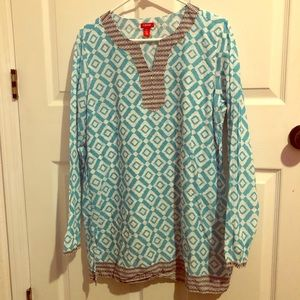 Tops - Izod long blouse/beach cover up